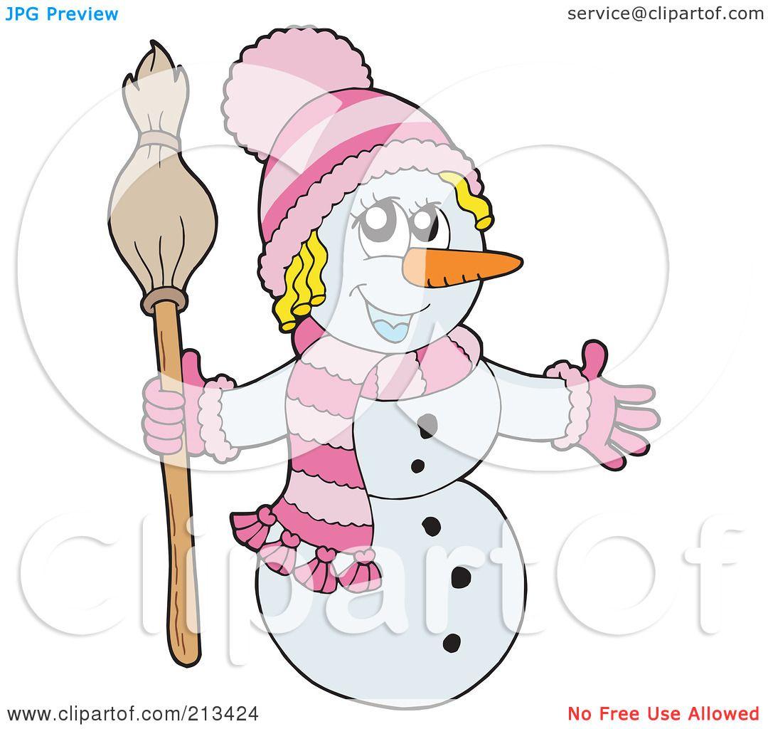 Clip Art Snowgirl Royalty-Free  RF  Clipart