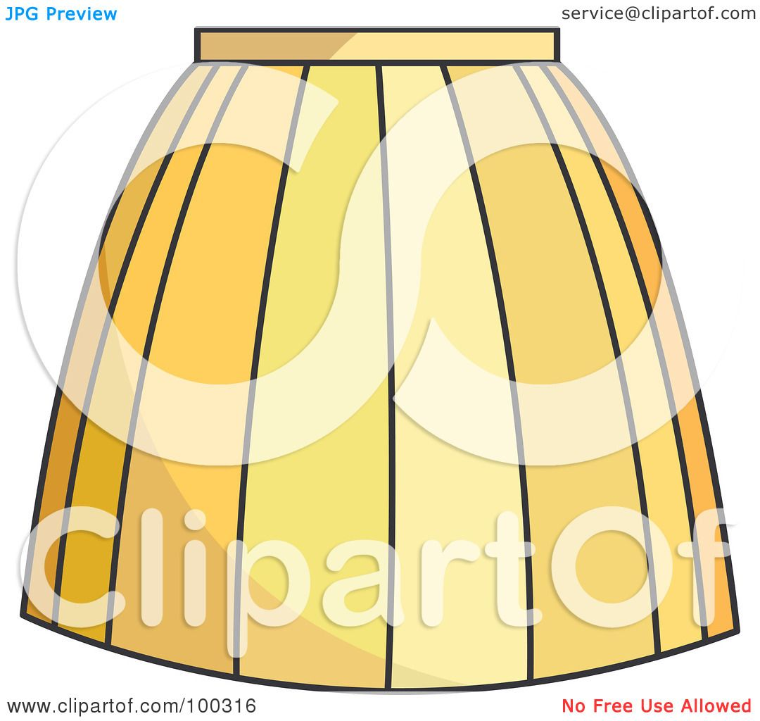 Royalty free rf clipart illustration of a woman s yellow