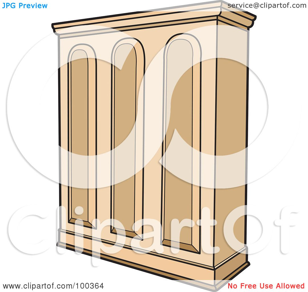 Cupboard Clip Art: Royalty-Free (RF) Clipart Illustration Of A Wooden