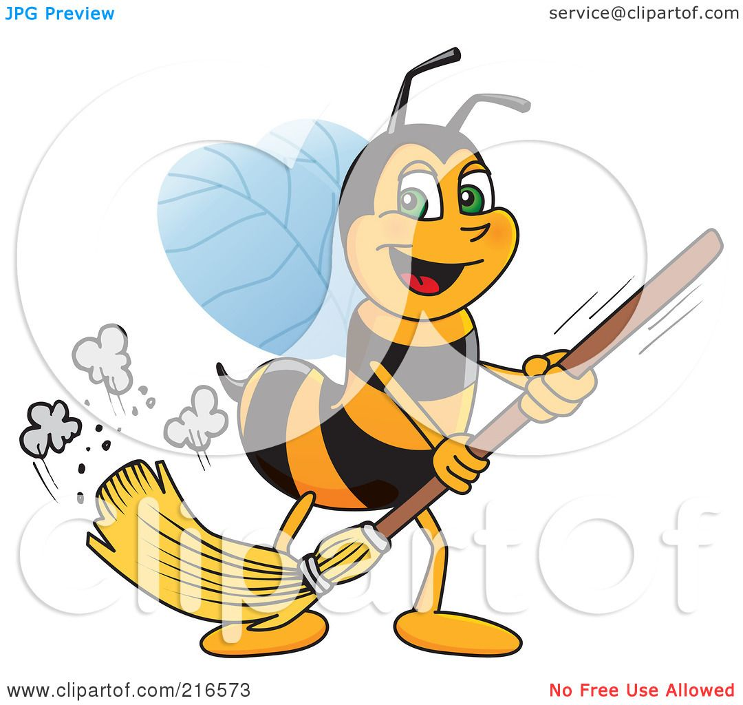 Royalty Free Rf Clipart Illustration Of A Worker Bee