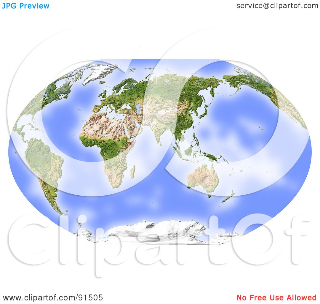 Royalty free rf clipart illustration of a world map shaded relief royalty free rf clipart illustration of a world map shaded relief centered on india by michael schmeling gumiabroncs Choice Image