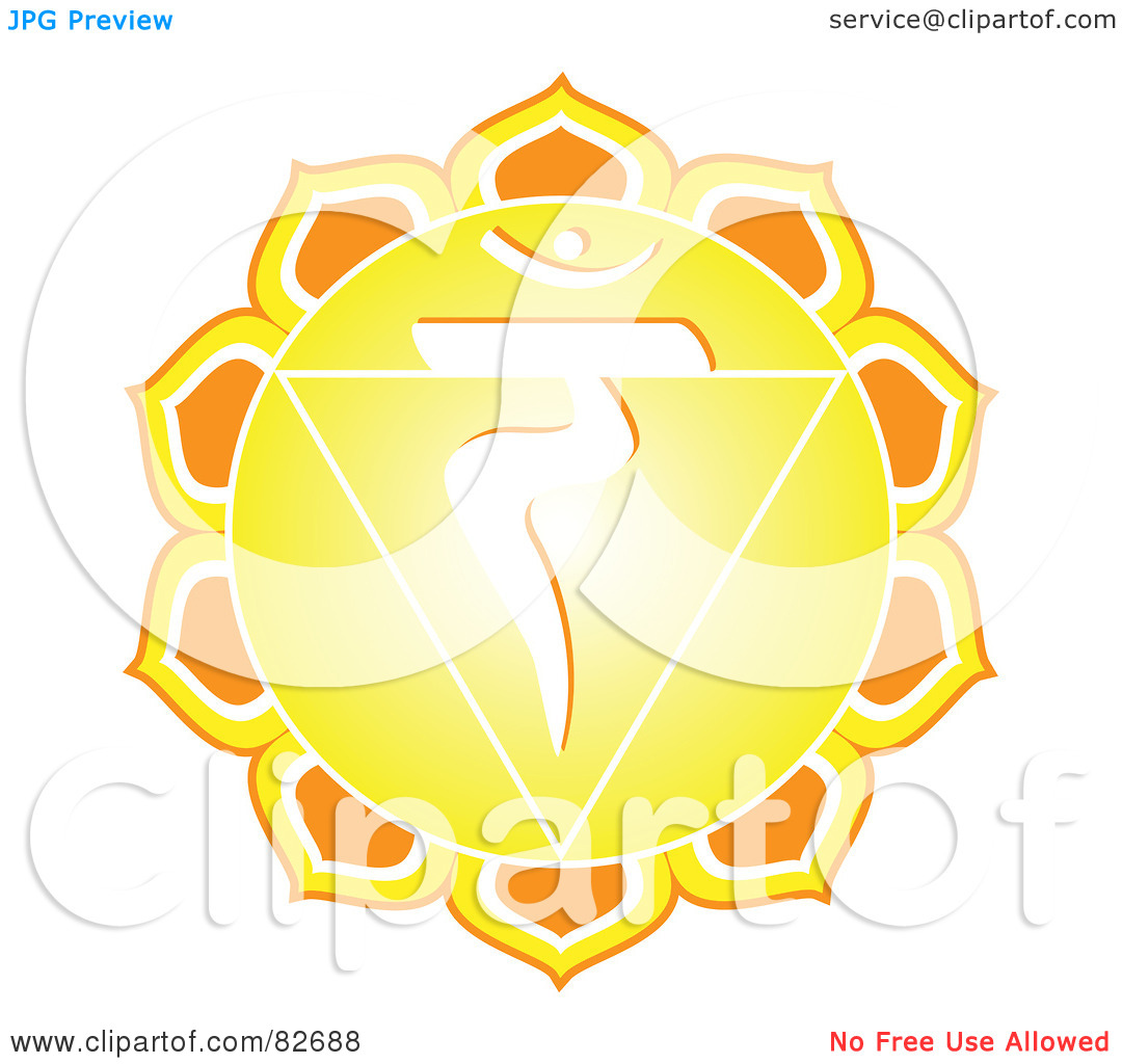 Royalty-Free (RF) Clipart Illustration of a Yellow And White Chakra ...