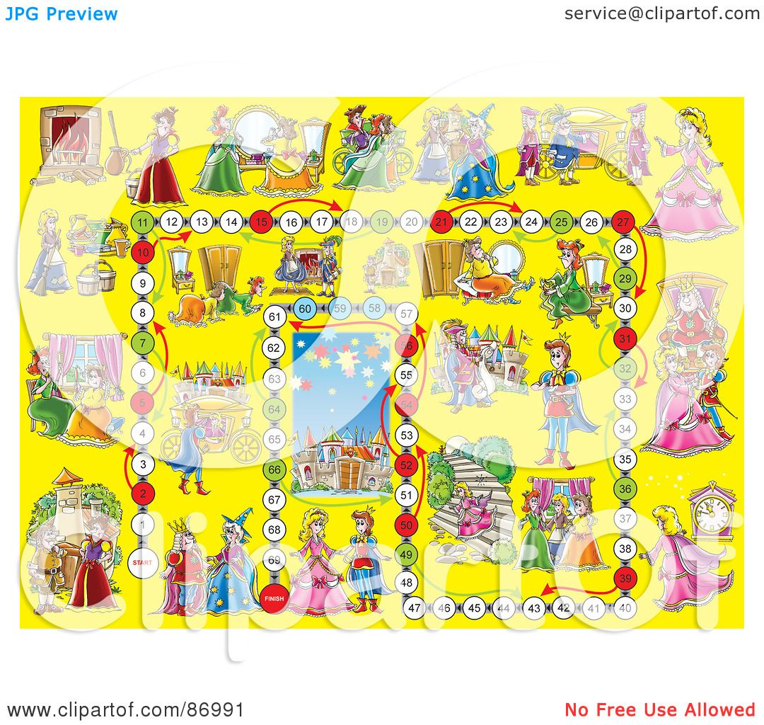 Royalty-Free (RF) Clipart Illustration of a Yellow Cinderella ...