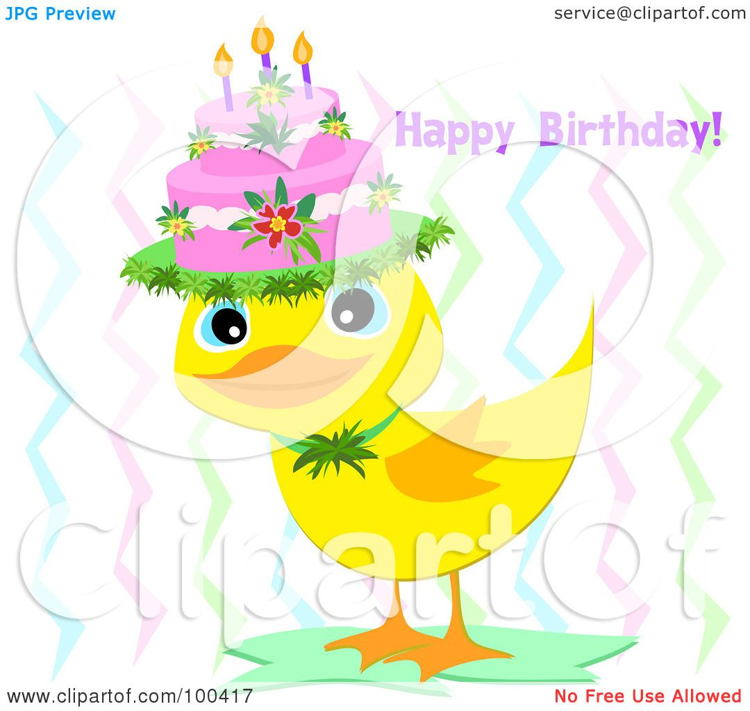 Royalty-Free (RF) Clipart Illustration of a Yellow Duckling ...