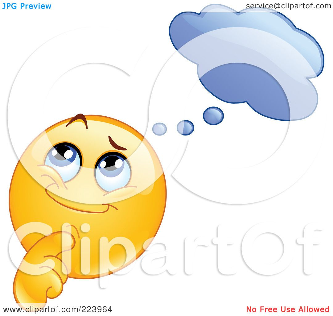 Royalty Free Rf Clipart Illustration Of A Yellow Emoticon