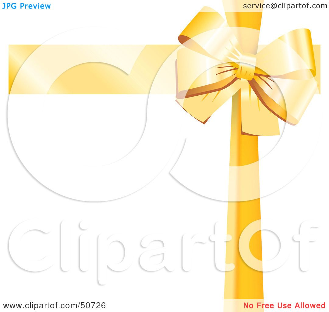 Royalty-Free (RF) Clipart Illustration of a Yellow Ribbon and Bow ...