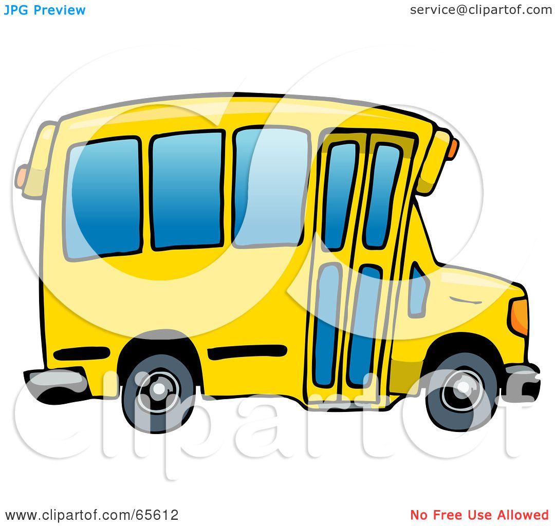 School Window Clipart royalty-free (rf) clipart illustration of a yellow school bus with
