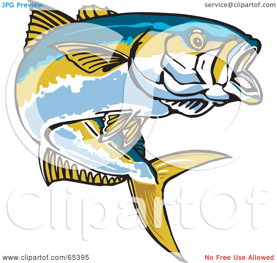Royalty-Free (RF) Clipart Illustration of a Yellowtail Fish