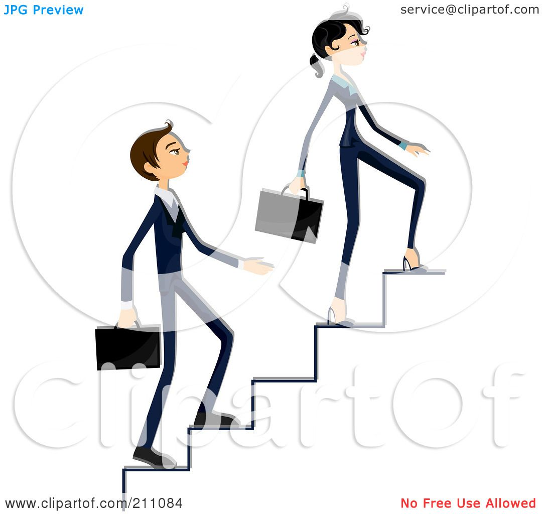 Royalty Free Rf Clipart Illustration Of A Young Business