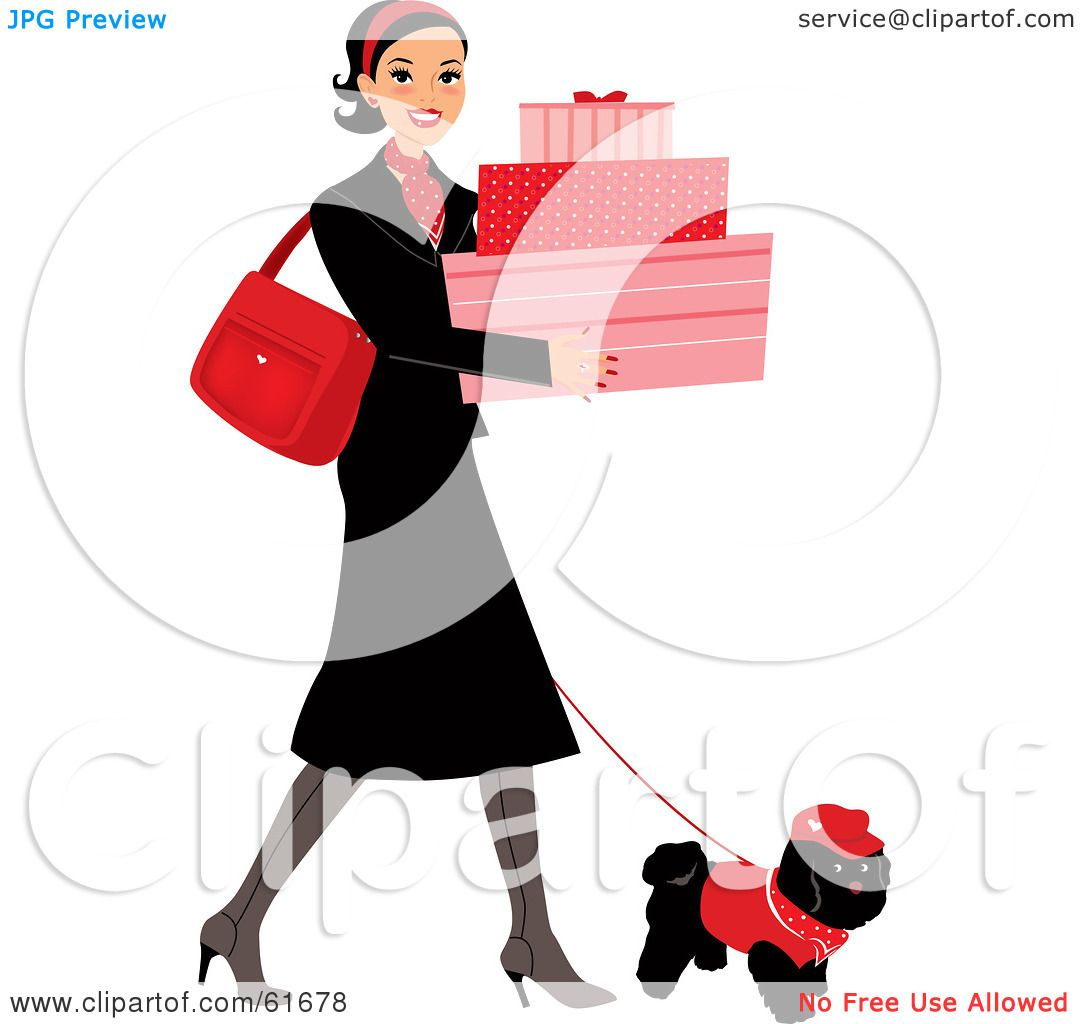 Walking In Love Clip Art: Royalty-free (RF) Clipart Illustration Of A Young Lady