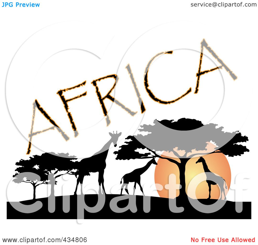 Royalty Free Rf Clipart Illustration Of Africa Text