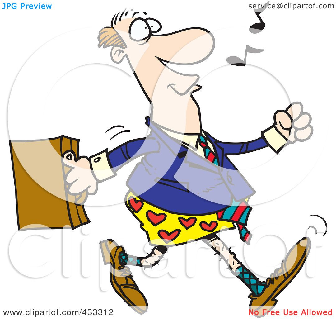 Royalty-Free (RF) Clipart Illustration of an Absent Minded ...