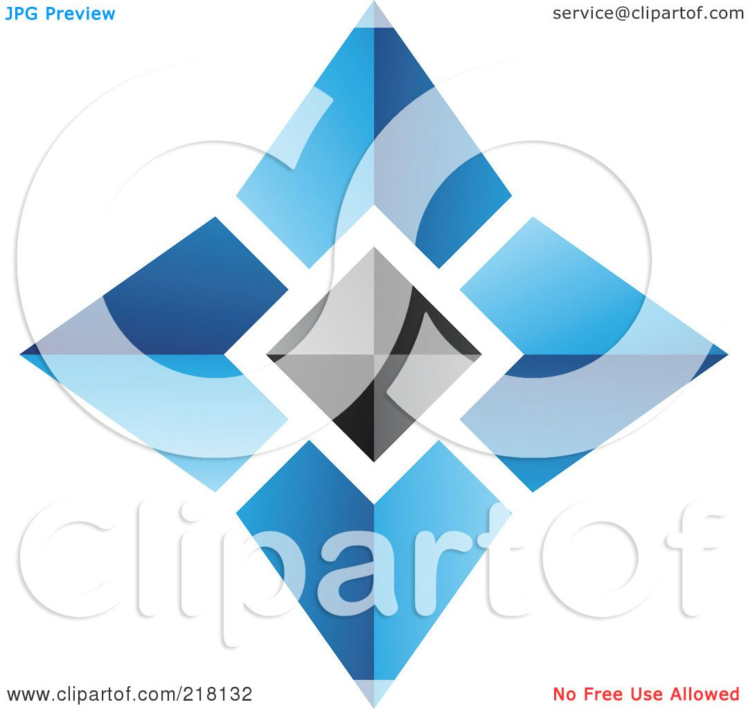Royalty-Free (RF) Clipart Illustration of an Abstract Blue ...