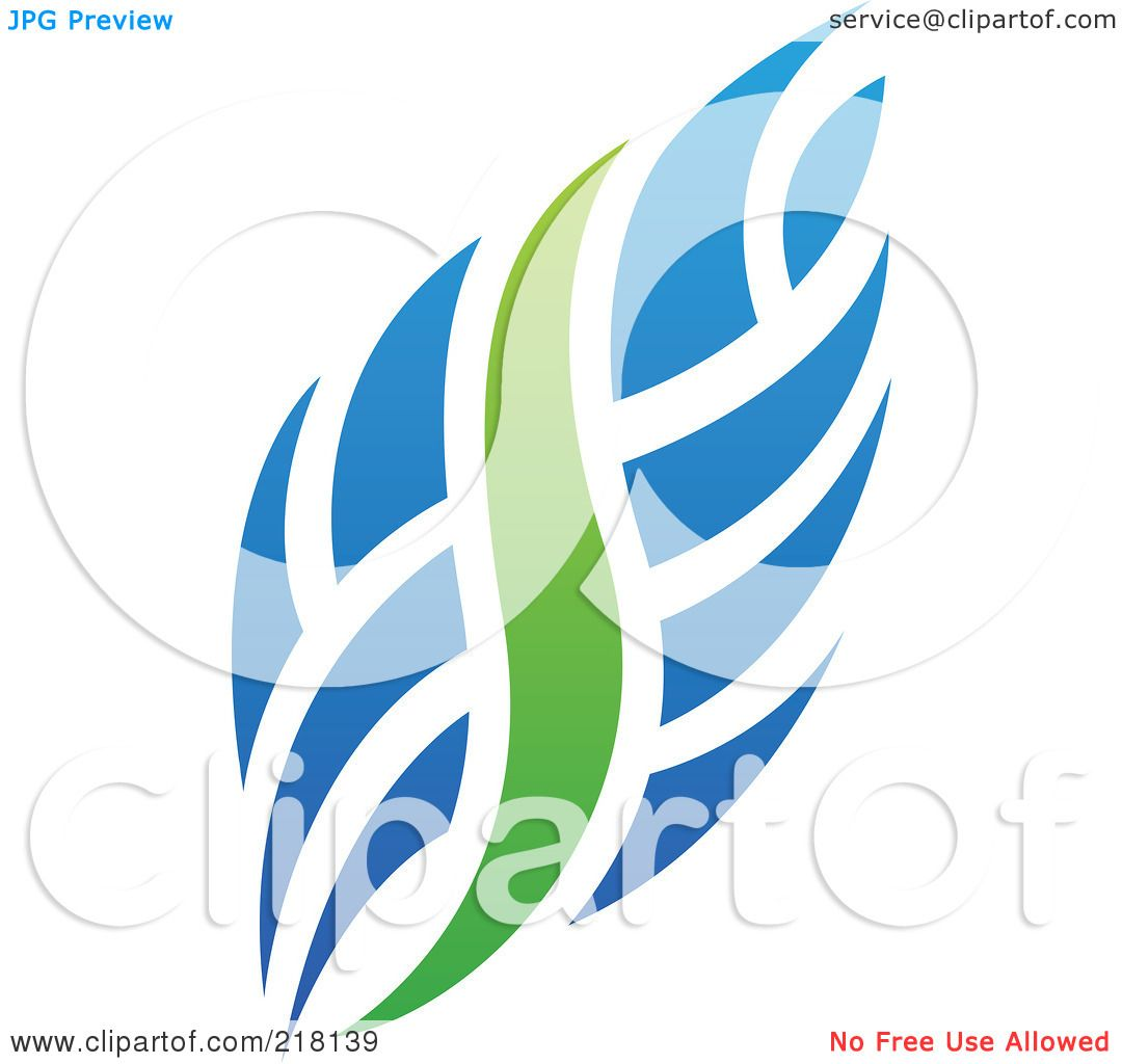 Royalty-Free (RF) Clipart Illustration of an Abstract Blue And ...