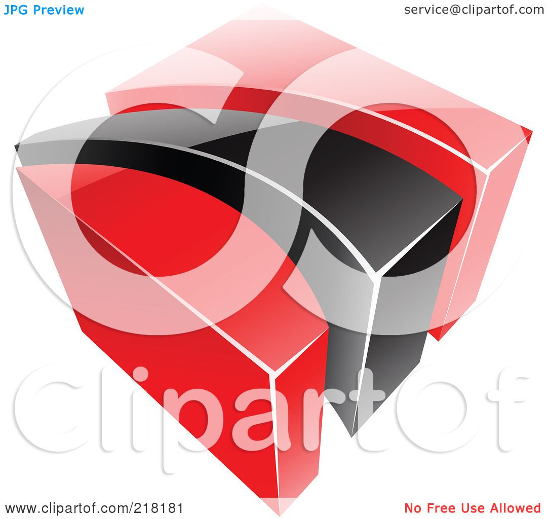 Royalty-Free (RF) Clipart Illustration of an Abstract Red