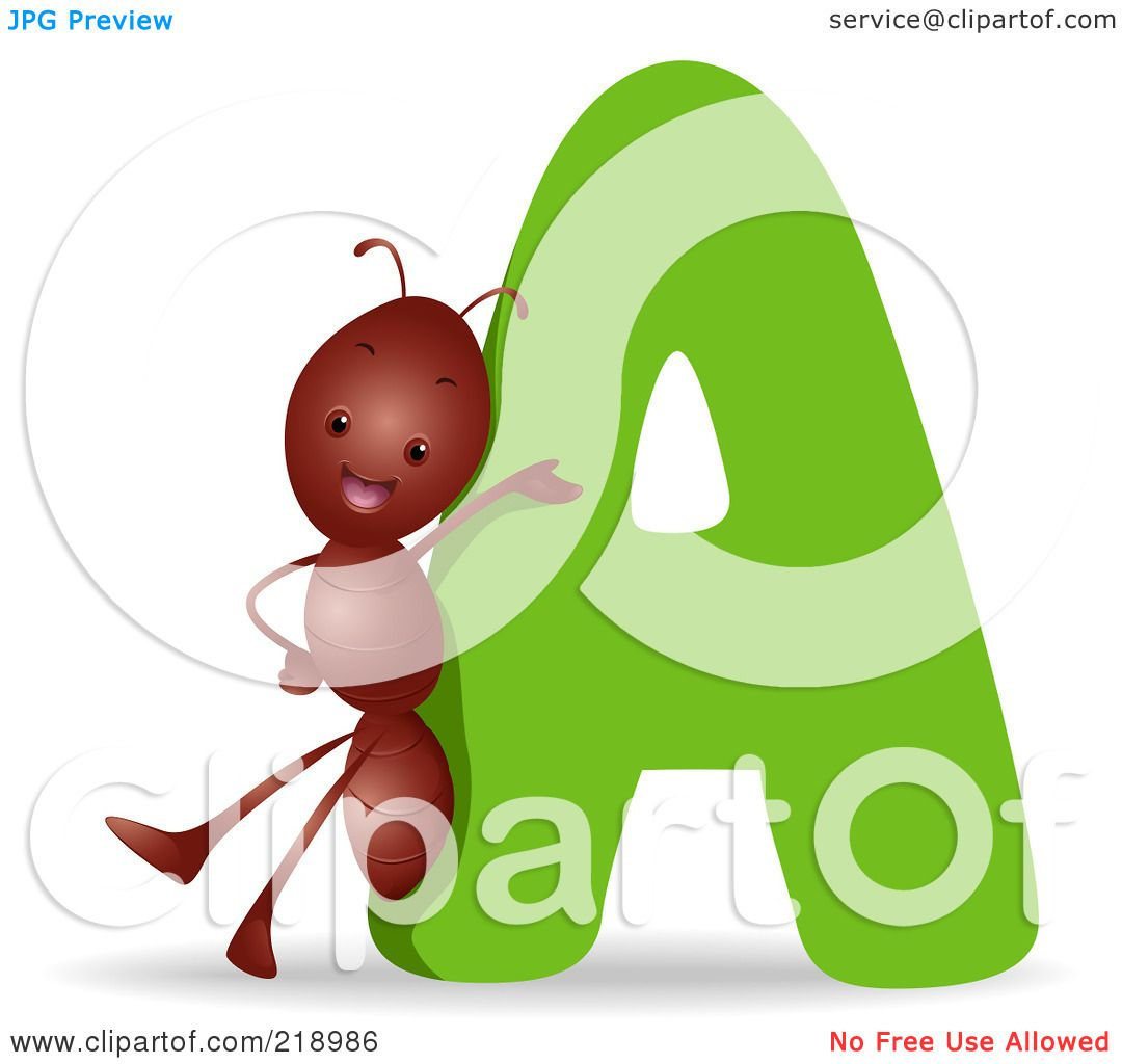 royalty free rf clipart illustration of an animal alphabet with