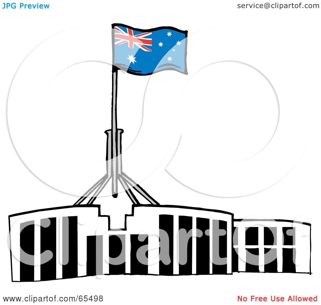 royalty free rf clipart illustration of an australian flag atop