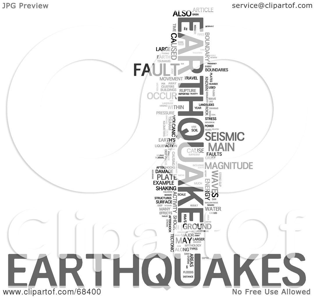 Royalty-Free (RF) Clipart Illustration of an Earthquake ...