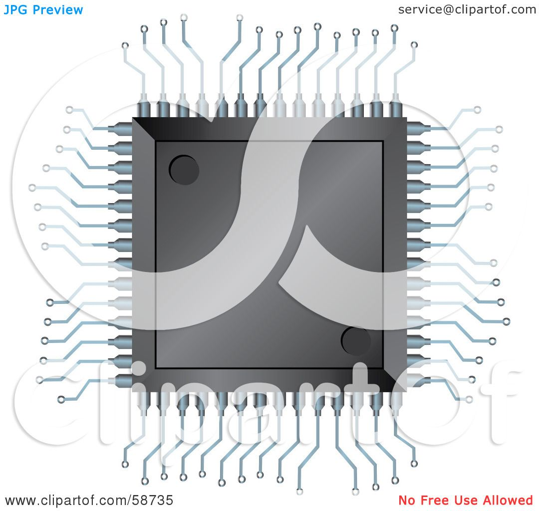 Royalty-Free (RF) Clipart Illustration of an Electronic ...