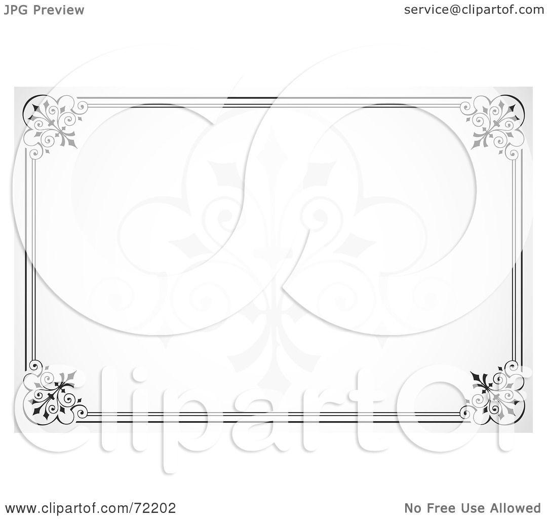 Royalty-Free (RF) Clipart Illustration of an Elegant Horizontal ...