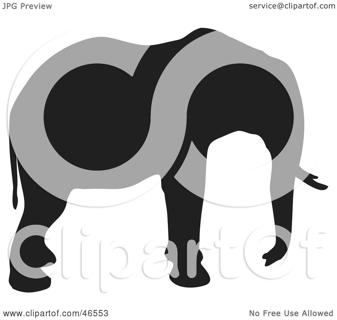 Royalty-Free (RF) Clipart Illustration of an Elephant ...
