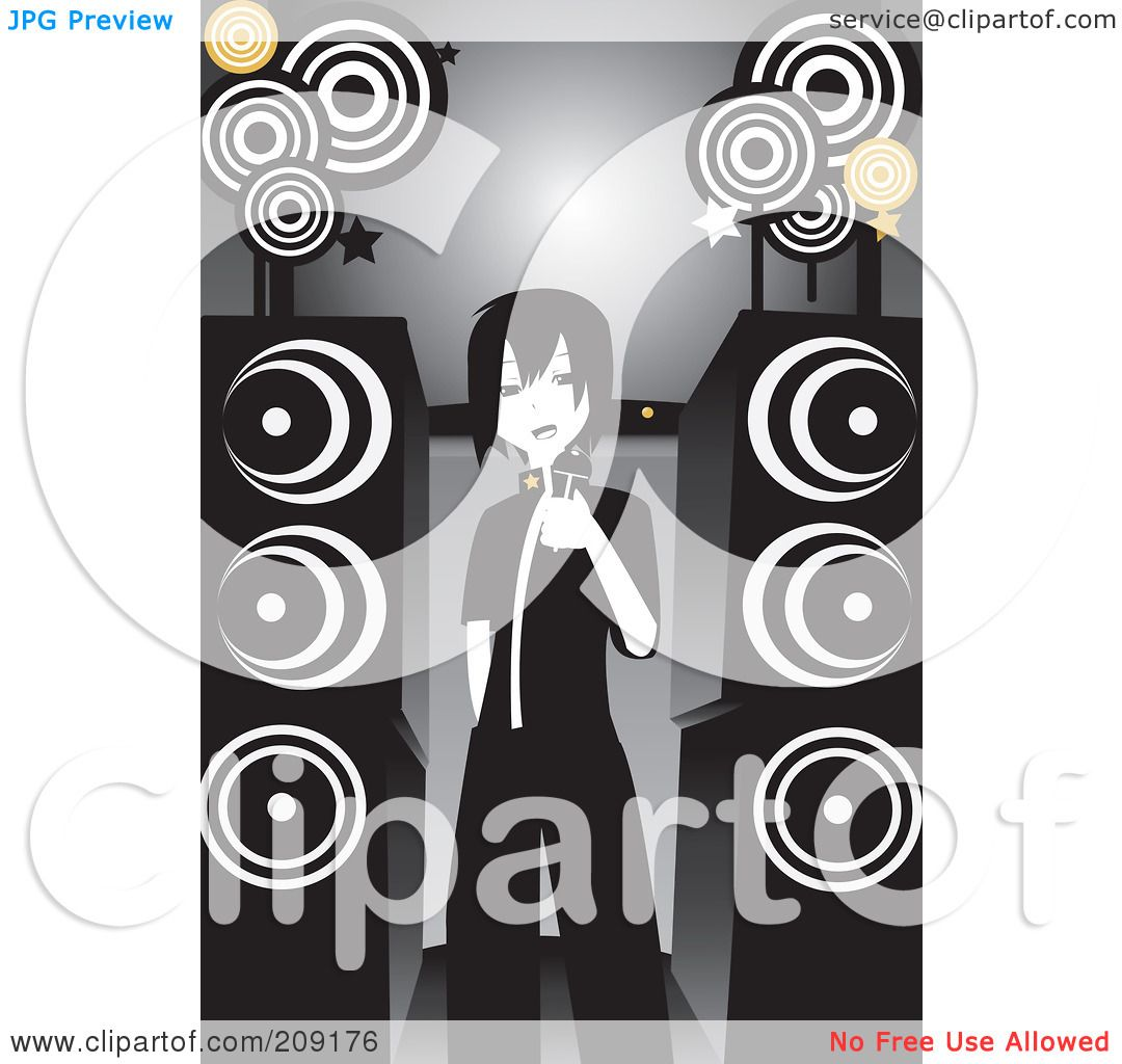 Royalty-Free Rf Clipart Illustration Of An Emo Girl -2256