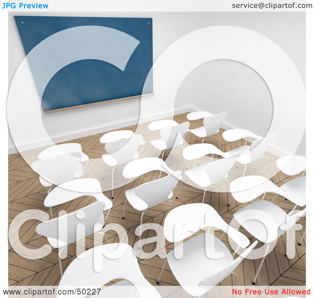 Modern Classroom Clipart : Royalty free rf clipart illustration of an empty modern