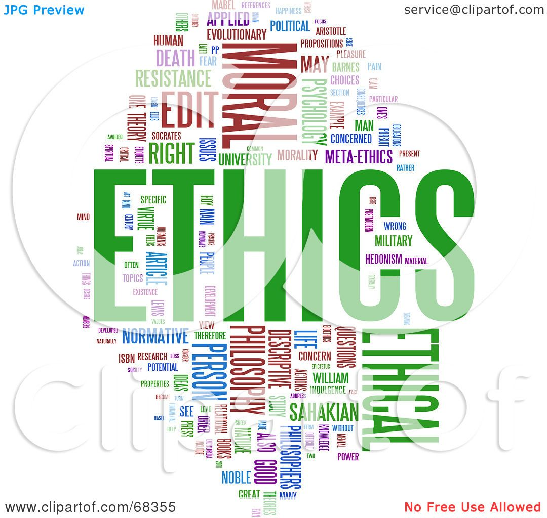 Royalty-Free (RF) Clipart Illustration of an Ethics Word Collage ...