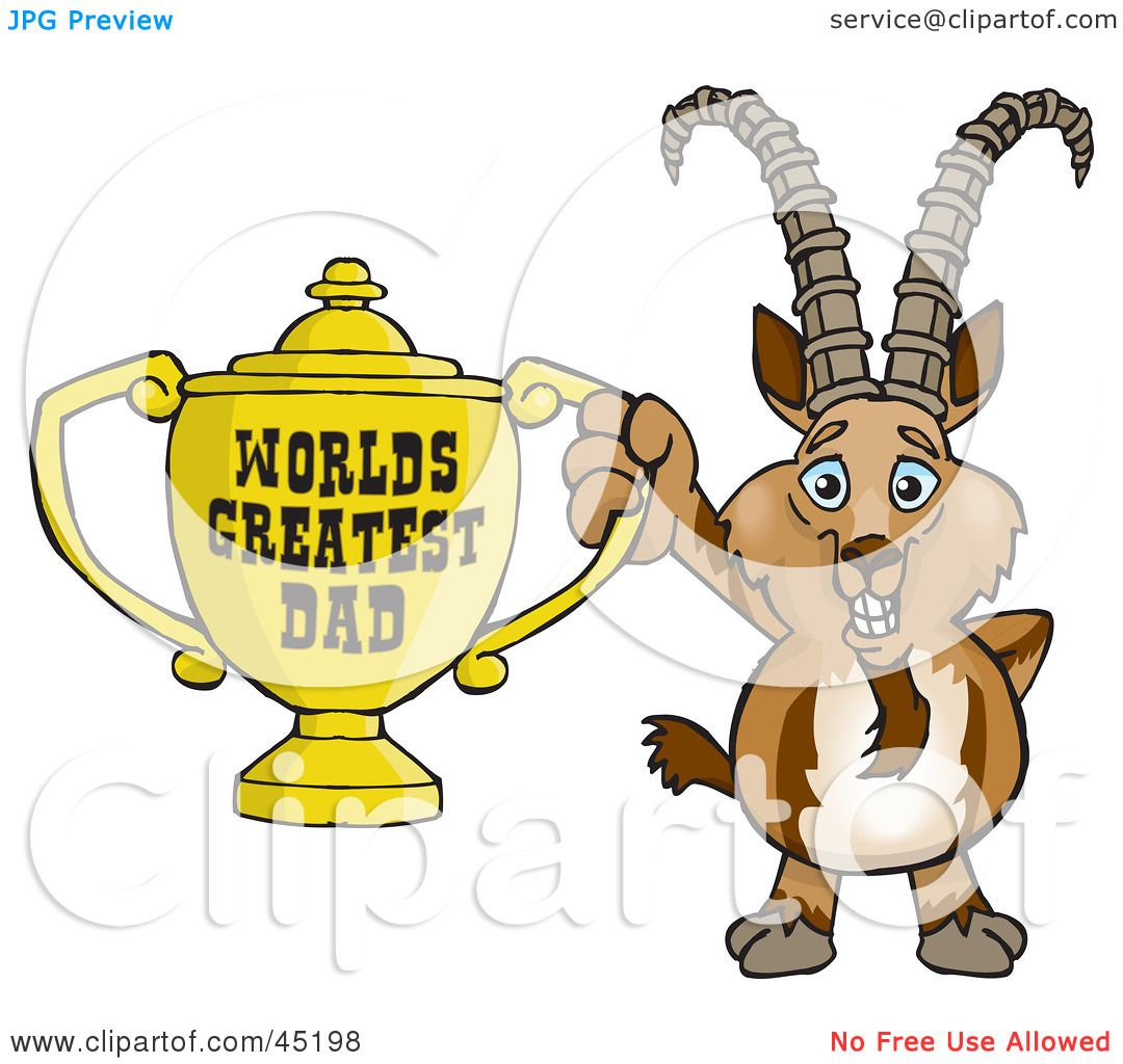 Royalty-free (RF) Clipart Illustration of an Ibex Goat ...