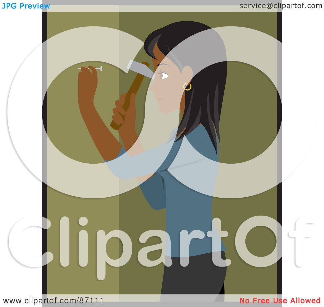 Royalty-Free (RF) Clipart Illustration of an Indian Woman ...