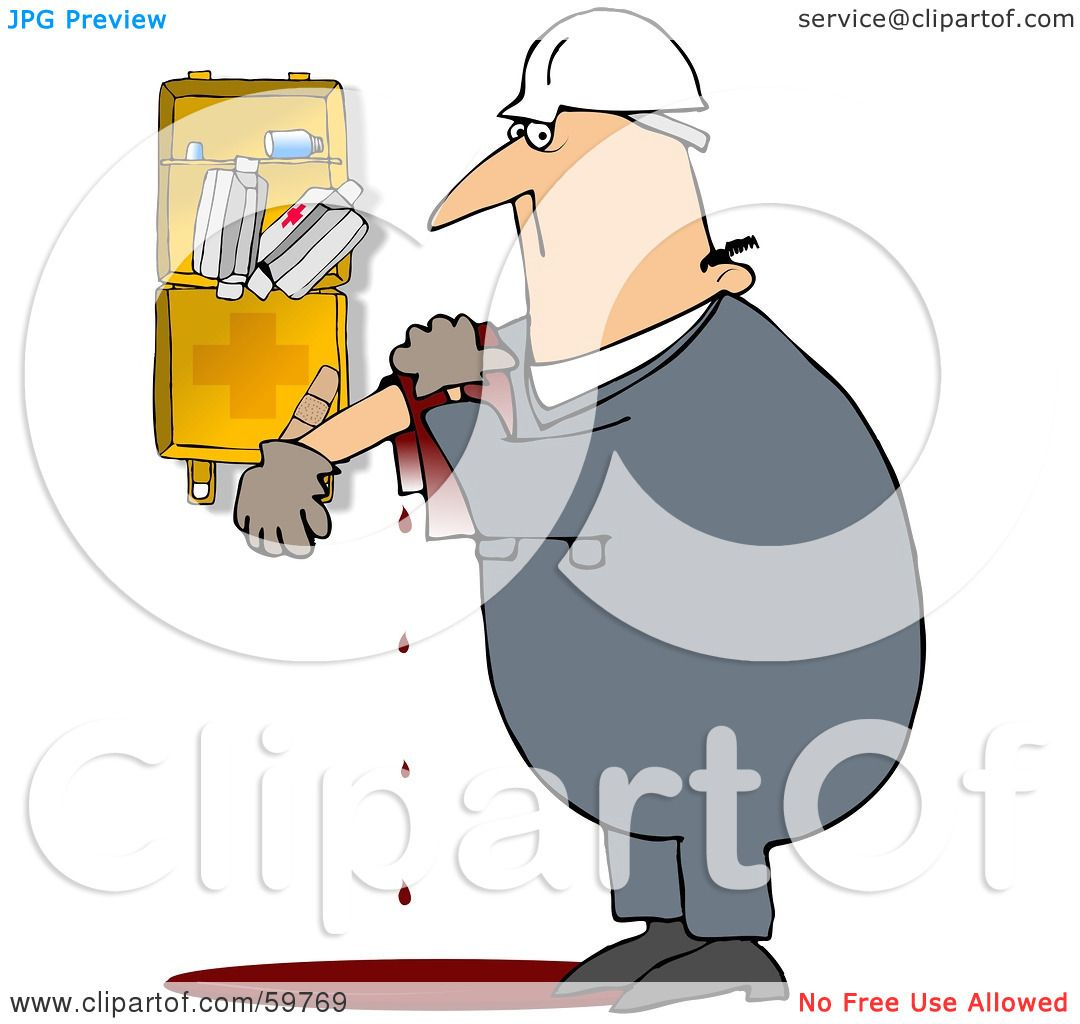 Royalty Free Rf Clipart Illustration Of An Injured