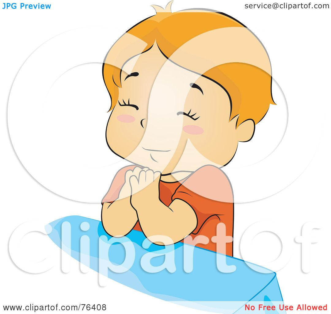 Royalty-Free (RF) Clipart Illustration of an Innocent Boy Praying ...