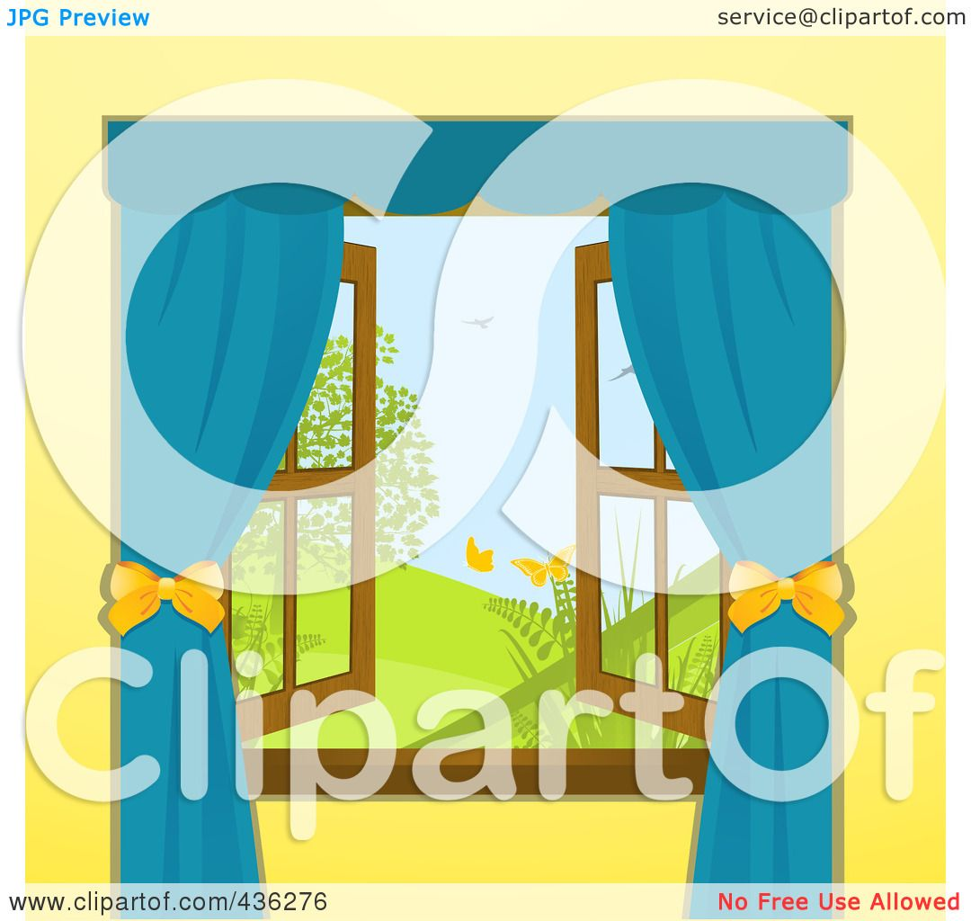 Open Window Clipart Clipart Suggest: Royalty-Free (RF) Clipart Illustration Of An Open Window