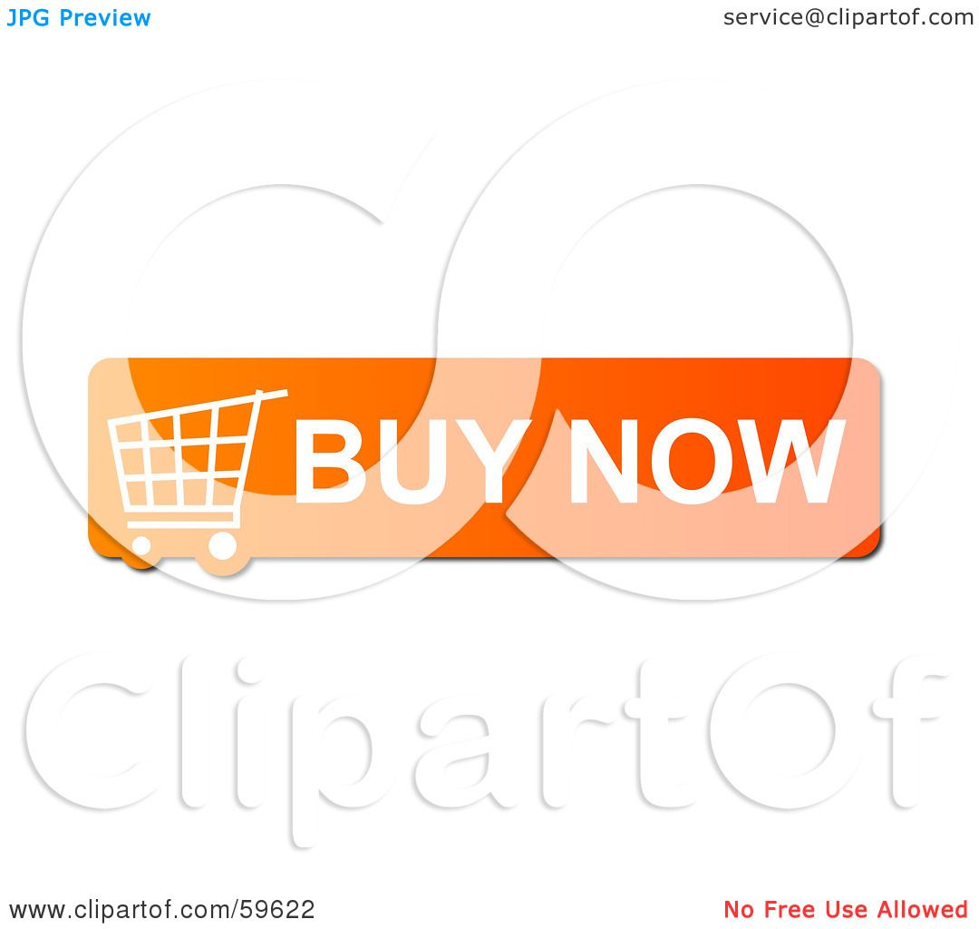 Buy It Now: Royalty-Free (RF) Clipart Illustration Of An Orange Buy