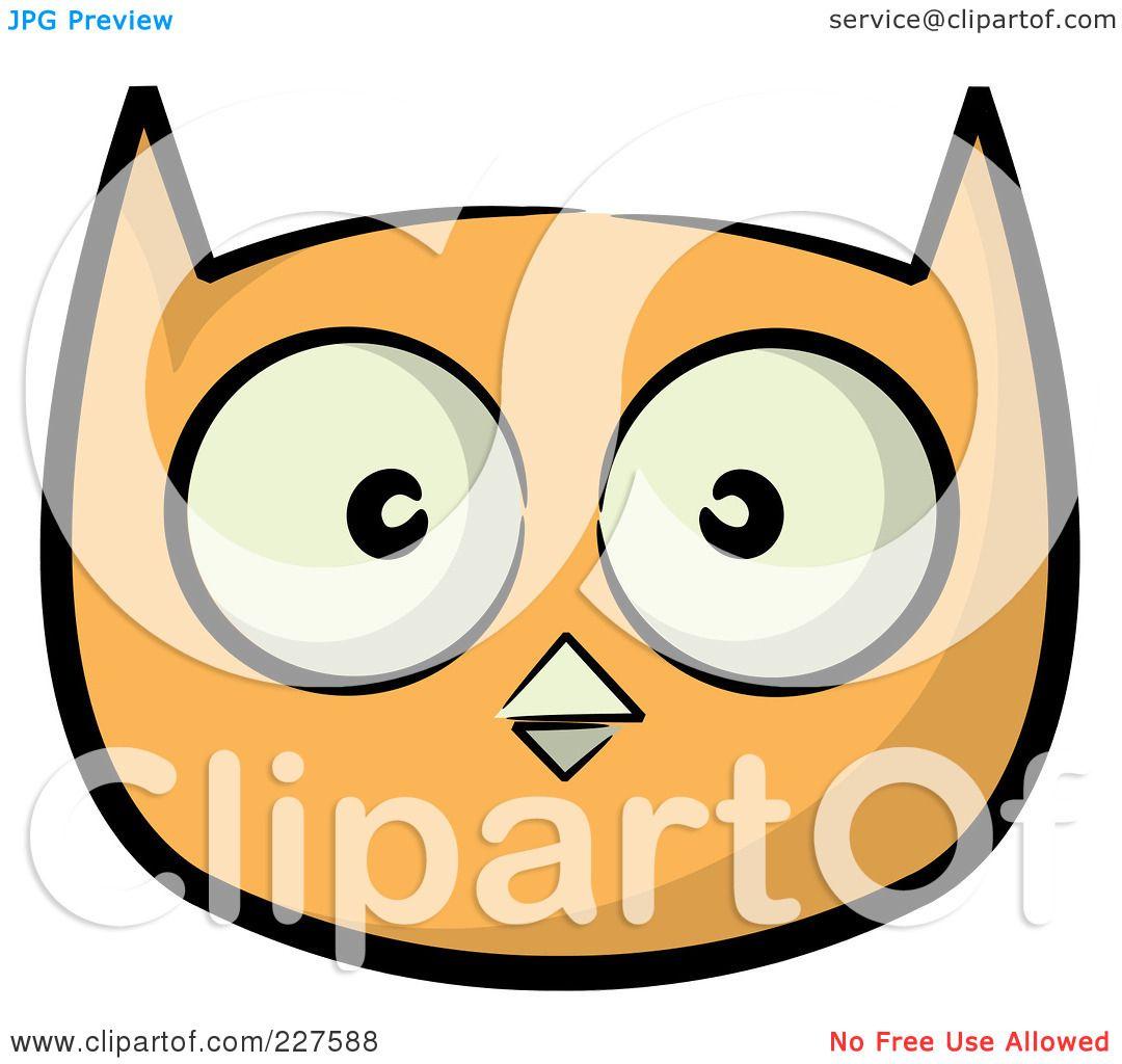 Royalty-Free (RF) Clipart Illustration of an Orange Owl ...