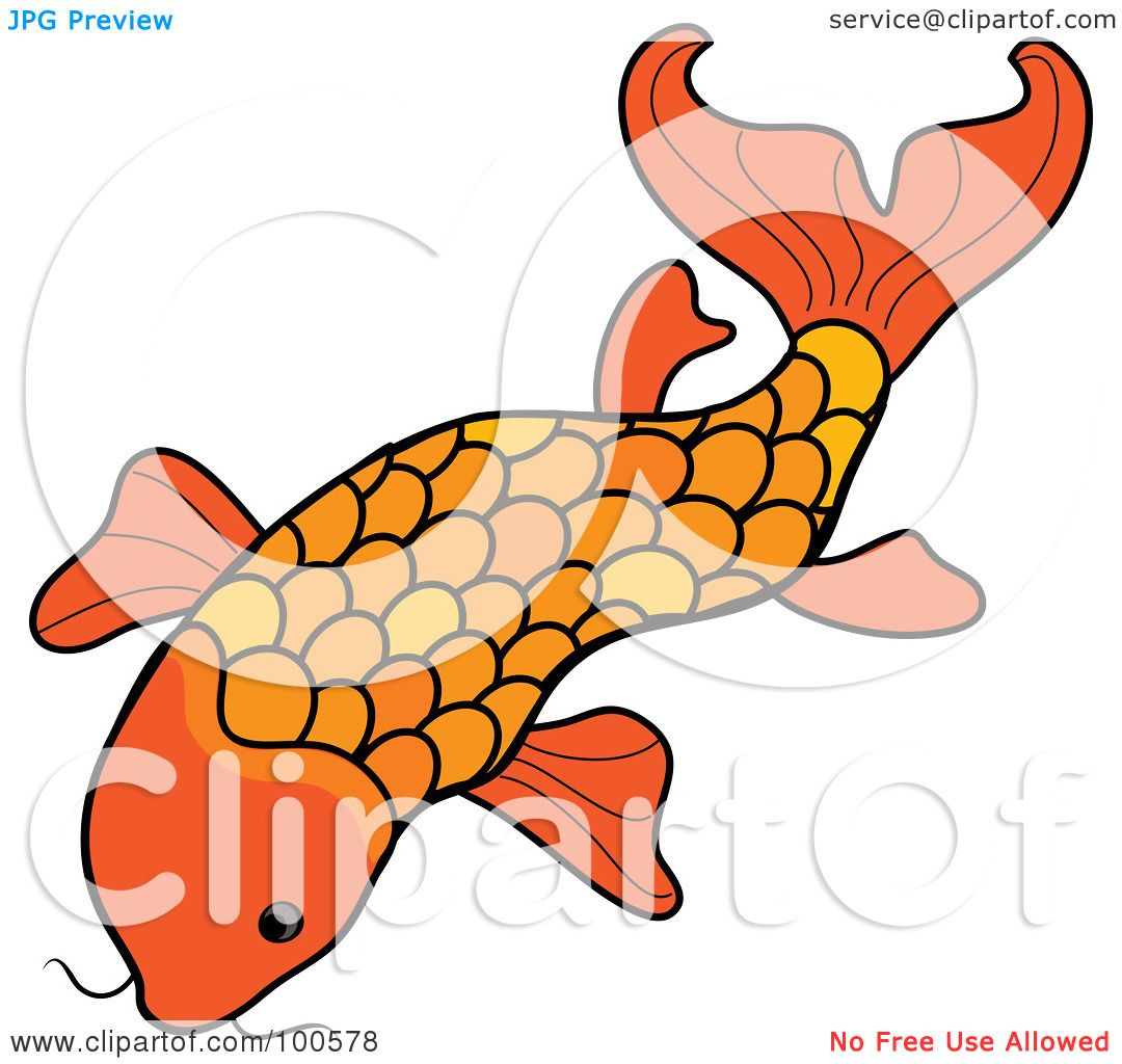Dead Fish Floating Cartoon Swimming koi fish by pams