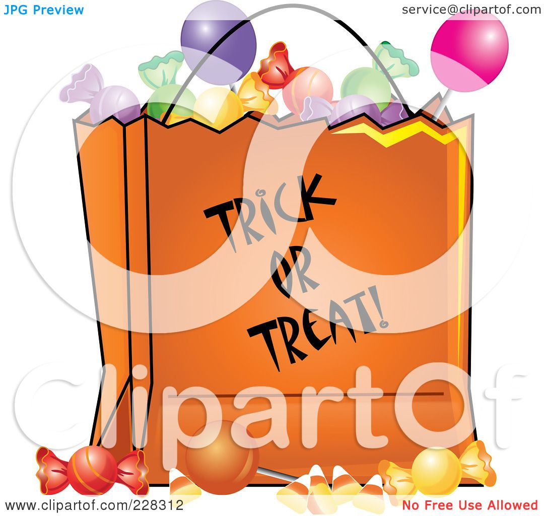 Royalty-Free (RF) Clipart Illustration of an Orange Trick ...
