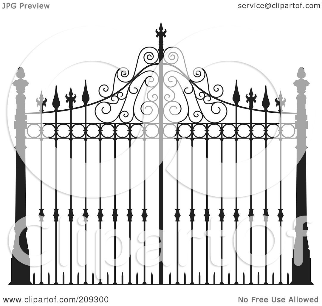 Royalty free rf clipart illustration of an ornate