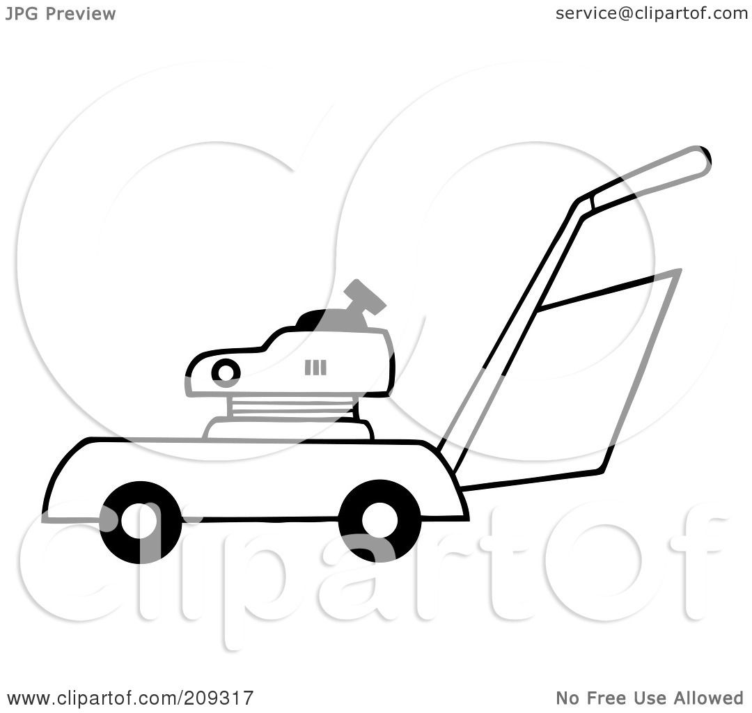 Royalty free rf clipart illustration of an outlined lawn for Lawn mower coloring page