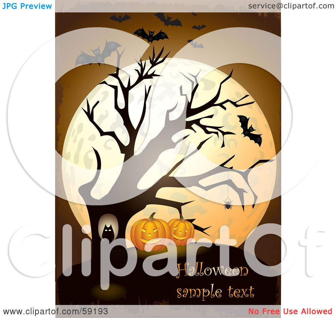 royalty-free (rf) clipart illustration of an owl in a bare tree