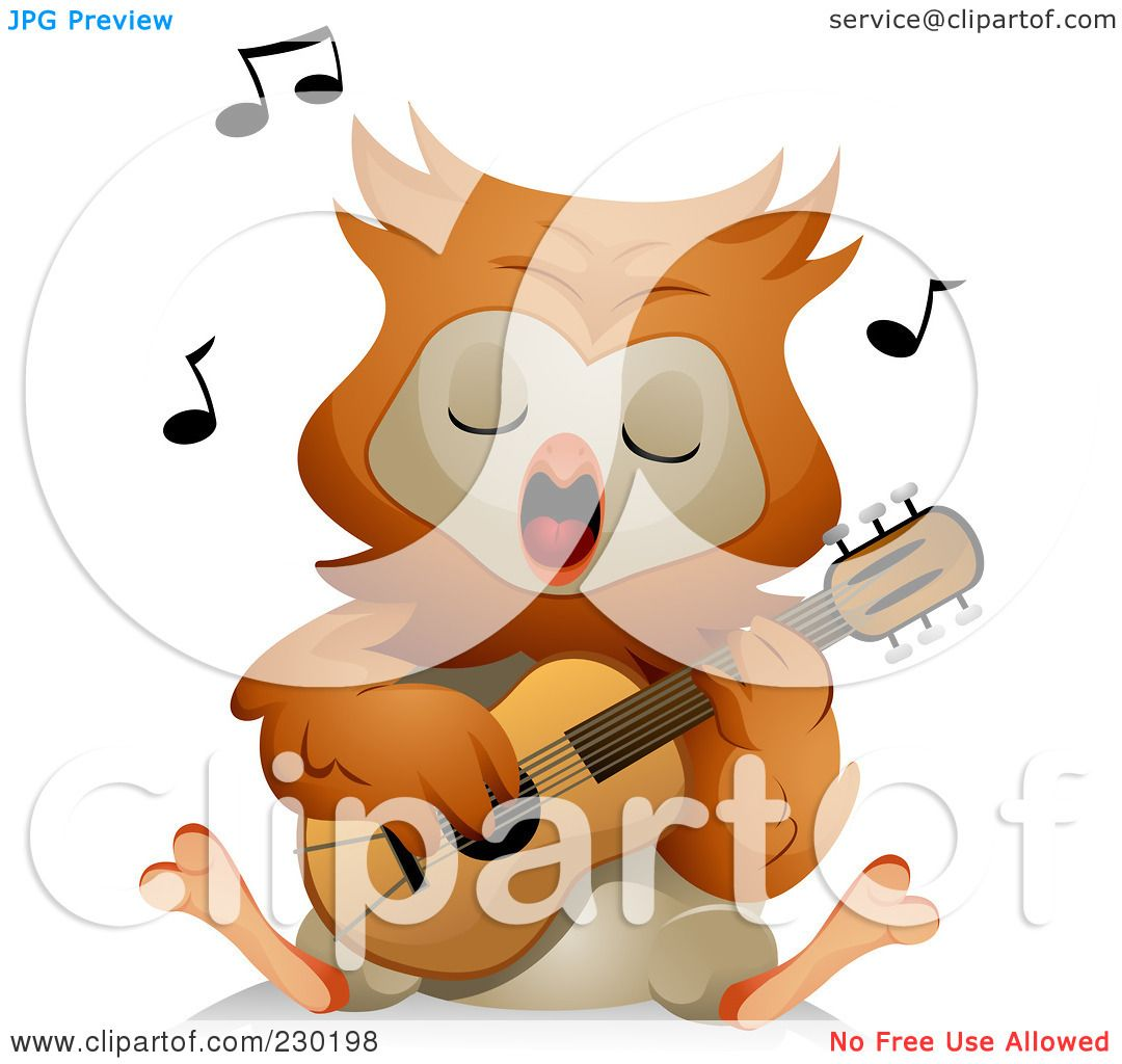 owl playing the guitar - photo #27