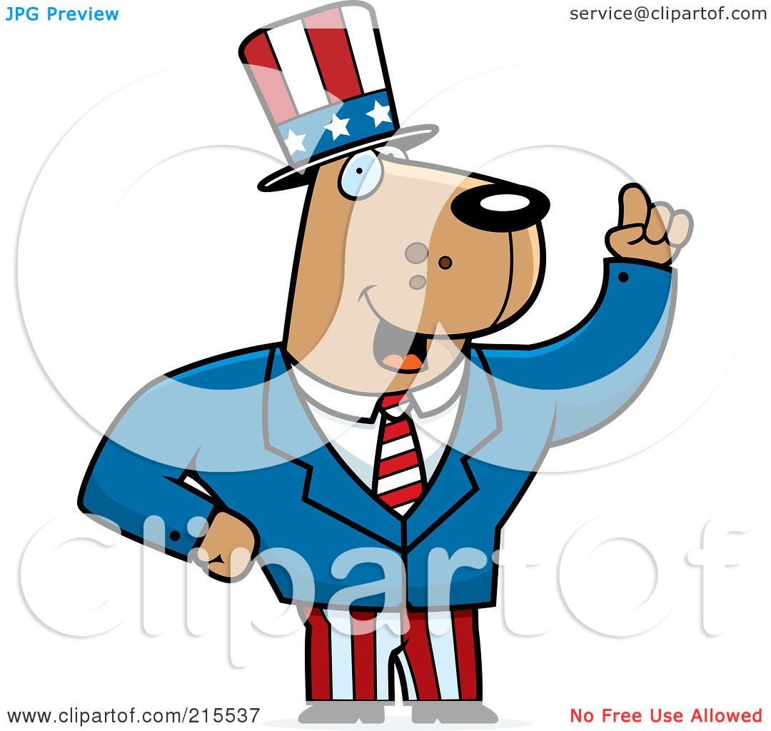 Royalty-Free (RF) Clipart Illustration of an Uncle Sam Dog ...