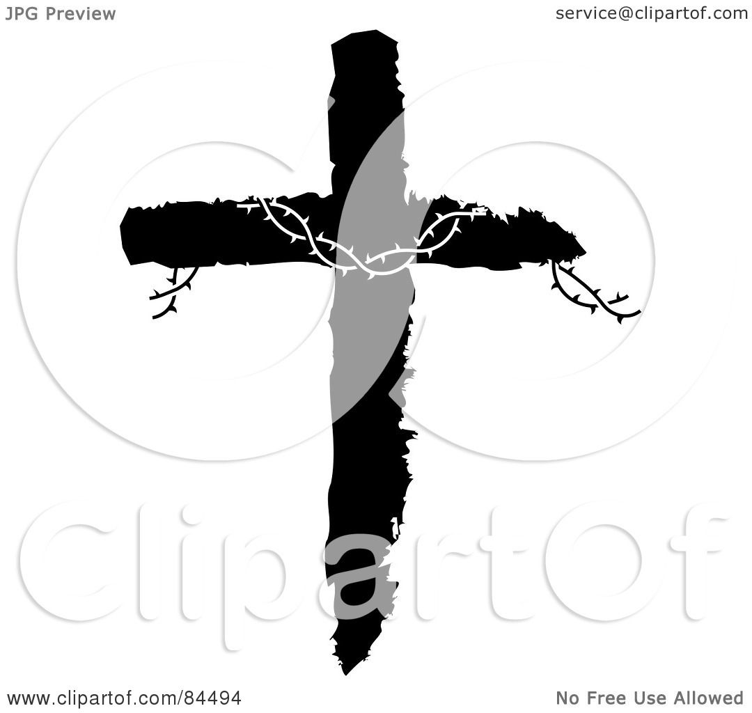 Royalty Free Rf Clipart Illustration Of Barbed Wire On A Black And Rh Clipartof Com Western Cross Silhouette Clip Art Fancy