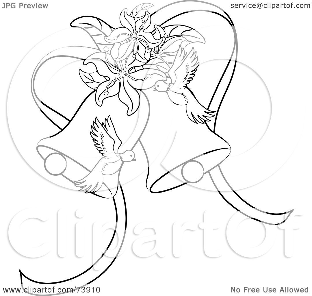Royalty-Free (RF) Clipart Illustration of Black And White Outline ...