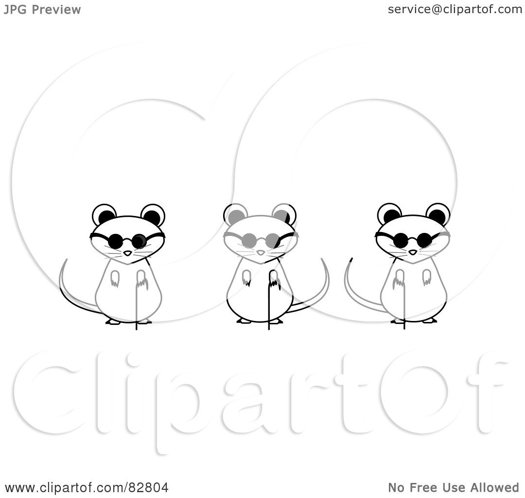 Three Blind Mice Coloring Page And White Three Blind Mice