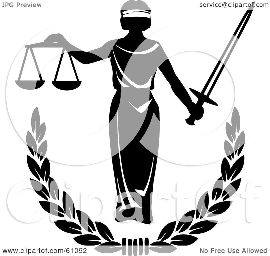 royaltyfree rf clipart illustration of blind justice