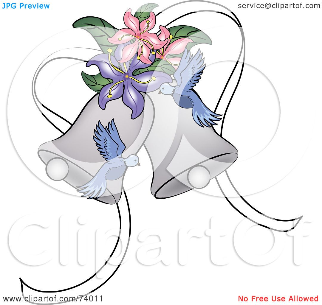 Royalty Free Rf Clipart Illustration Of Blue Doves And