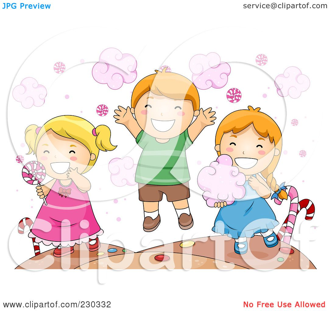Royalty Free Rf Clipart Illustration Of Children Eating