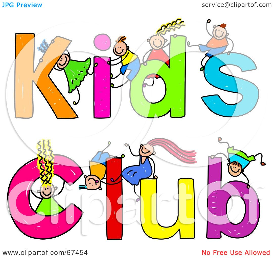 Royalty-Free (RF) Clipart Illustration of Children With ...