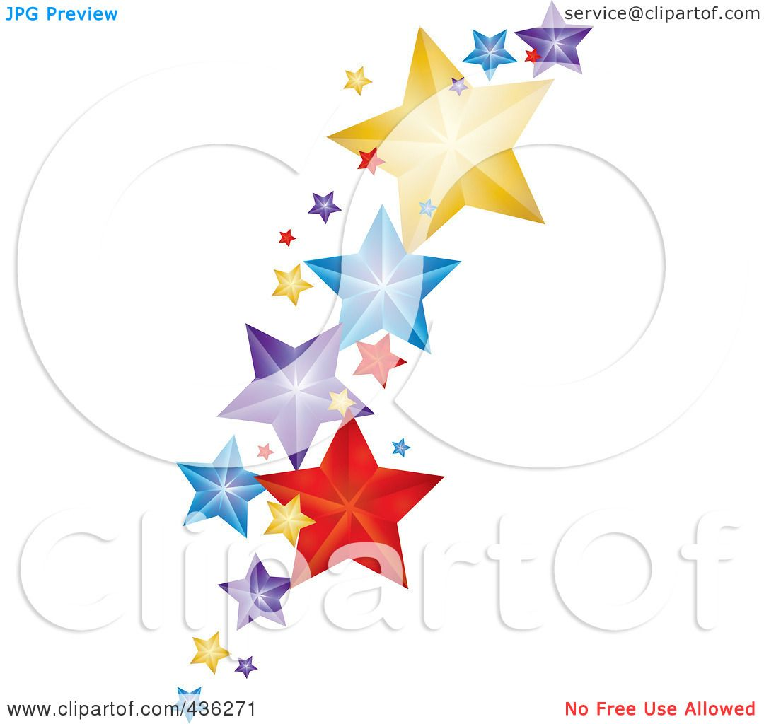 Royalty-Free (RF) Clipart Illustration of Colorful Falling ...